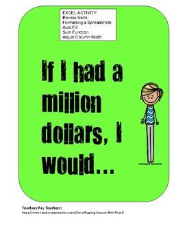 Excel Activity: Spending a Million Dollars
