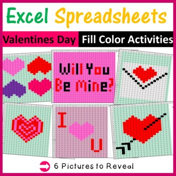 Excel Spreadsheets Valentines Day Mystery Pictures Fill Co