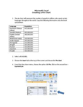 Excel World Languages 3D Pie Chart