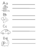 Excellent! 7 pgs of Alphabet Practice sheets/handmade pict