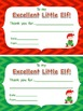 """Excellent Little Elf"" Student Notes!"