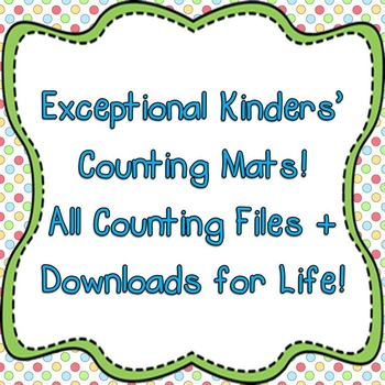 Exceptional Kinders' Counting Mats - All Counting Mats Plu