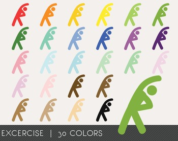 Excercise Digital Clipart, Excercise Graphics, Excercise P