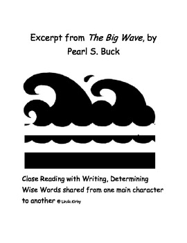 Excerpt The Big Wave, Close Reading and Writing