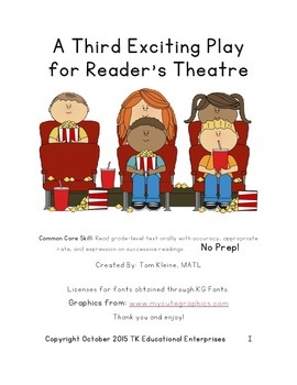 Exciting Animal Reader's Theatre Play - Felix Goes on Vaca