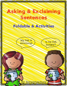 Asking and Exclaiming Sentences Foldable and Activities