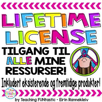 Lifetime License - tilgang til alle mine produkter!
