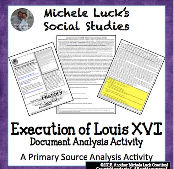 Execution of Louis XVI French Revolution Primary Source An