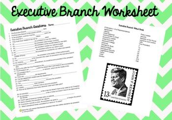 Executive Branch Worksheet