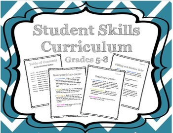 "Executive Functioning ""Student"" Skills Curriculum"