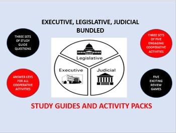 Executive, Legislative, Judicial Bundle: Study Guide/Activ