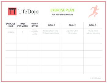 Exercise Plan Worksheet