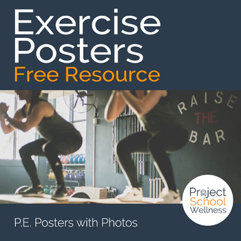 Exercise Posters - PE Lesson Plans, Fitness Activity, Heal