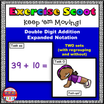 Double Digit Addition Expanded Notation: Math Task Cards -
