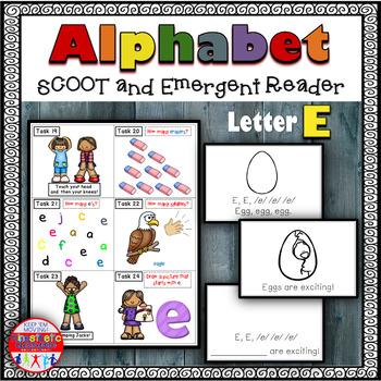 Alphabet Task Cards - Exercise Scoot! Letter E {Emergent R