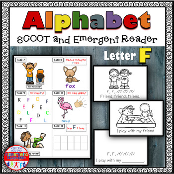 Alphabet Task Cards - Exercise Scoot! Letter F {Emergent R