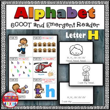 Alphabet Task Cards - Exercise Scoot! Letter H {Emergent R
