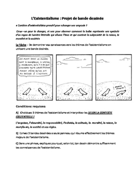 Existentialism Comic Project