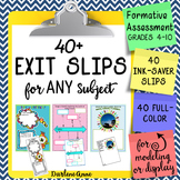 Exit / Entrance Slips for Any Subject