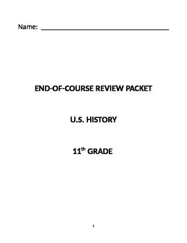 Exit Level STAAR U.S. History Study Guide