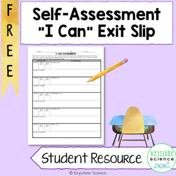 FREE Exit Slip I can Statement Printable