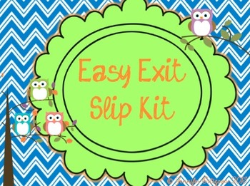 Exit Slip Kit - Bulletin Board Display