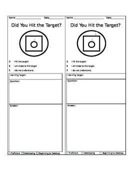 Exit Slip (Learning Targets)