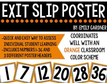 Exit Slip Poster-Orange