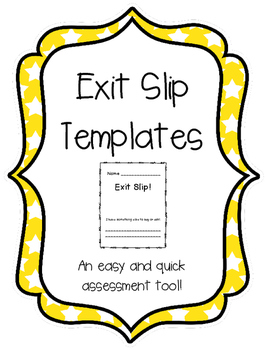 Exit Slip Templates