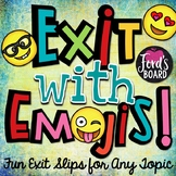 Fun Exit Slips: Exit with Emojis! - Set 1