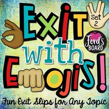 Fun Exit Slips: Exit with Emojis! - Set 2