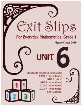 Exit Slips for Everyday Mathematics, Grade 1 Unit 6