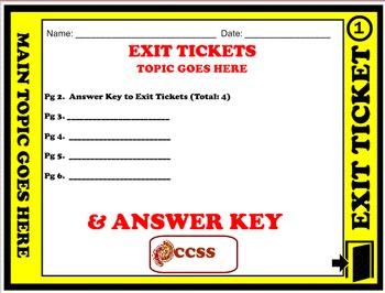Exit Ticket - Blank (Editable)