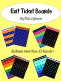 Custom Exit Ticket Board: What Stuck With You Today
