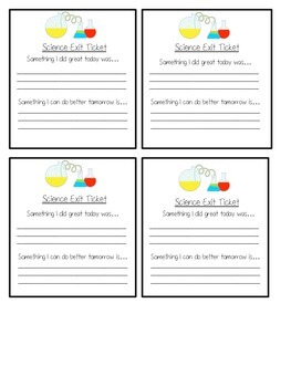 Science Exit Ticket Bundle