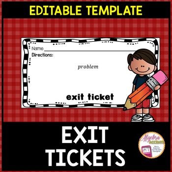 Exit Tickets Template *EDITABLE*