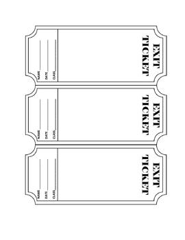 Exit Ticket Template - Editable
