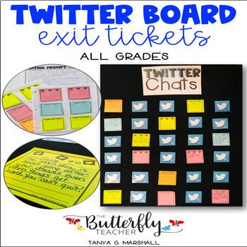 Exit Ticket Twitter Board