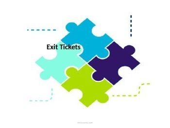 Exit Tickets-Plus/Delta