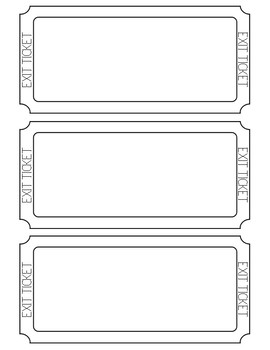 Exit Tickets (blank)