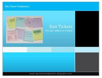 "Exit Tickets 3""x3"""