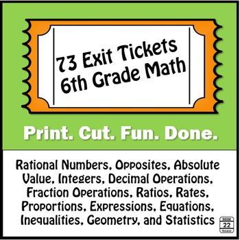 Exit Tickets {6th Grade Math}
