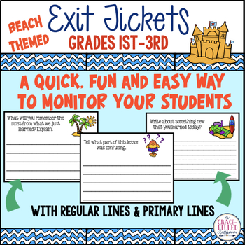 Exit Tickets {Beach Themed}