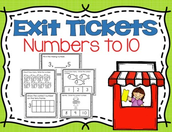 Numbers 1-10: Exit Tickets/ Quick Checks