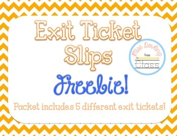 Exit Tickets Ready to Print