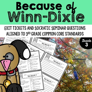 Exit Tickets for Because of Winn-Dixie