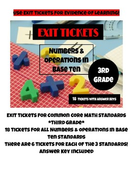 Exit Tickets for Common Core Math Standards - NBT