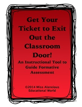 Exit Tickets to Get Out the Classroom Door!