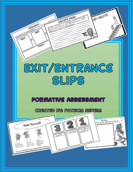 Exit and Entrance Slips: Formative Assessment: Middle Scho