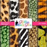 Exotic Jungle & Safari Animal Print Paper {Scrapbook Backg